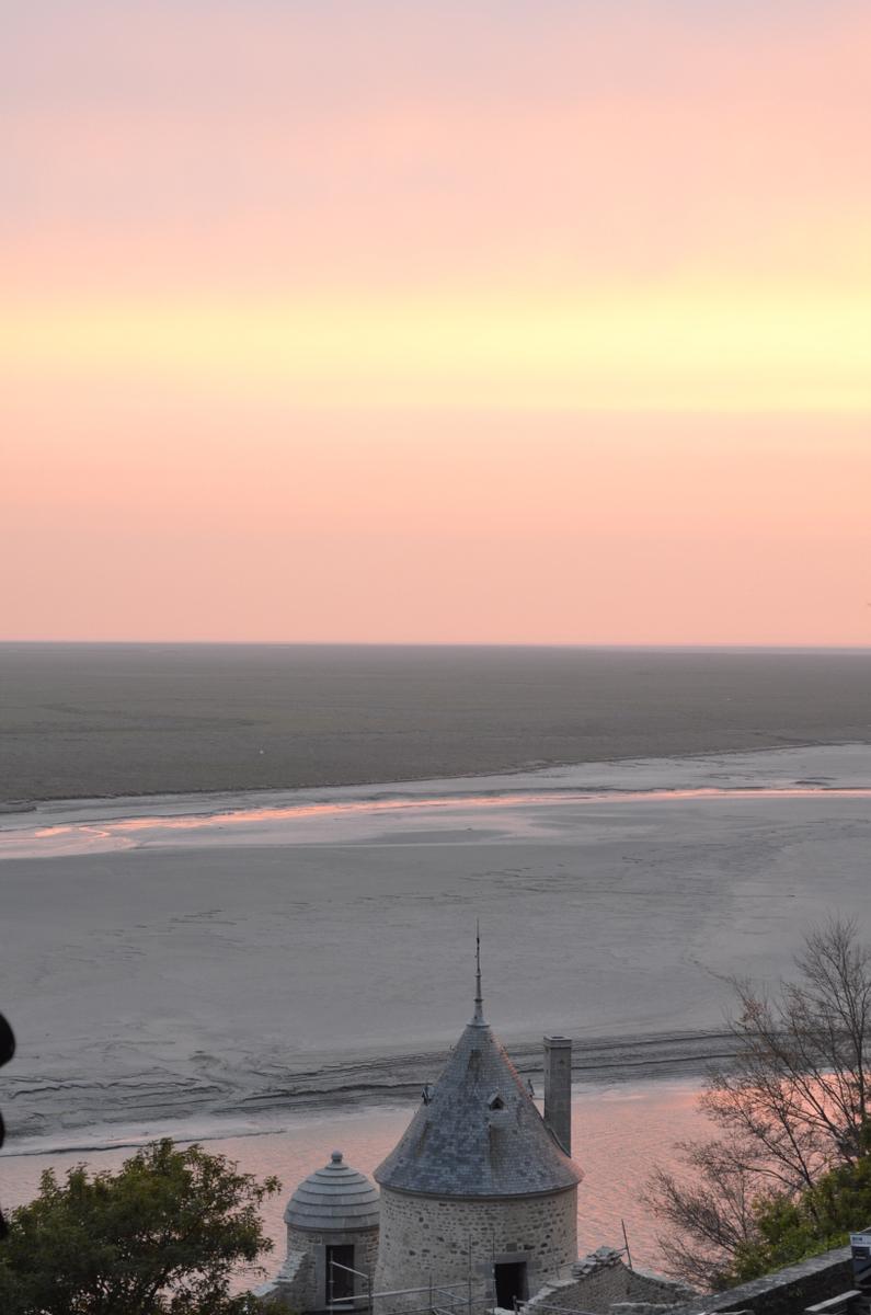 coucher soleil mont saint michel